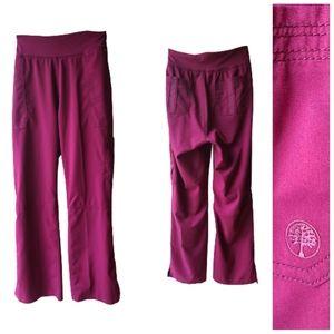 Healing Hands Purple Label Yoga Scrub Pants Large